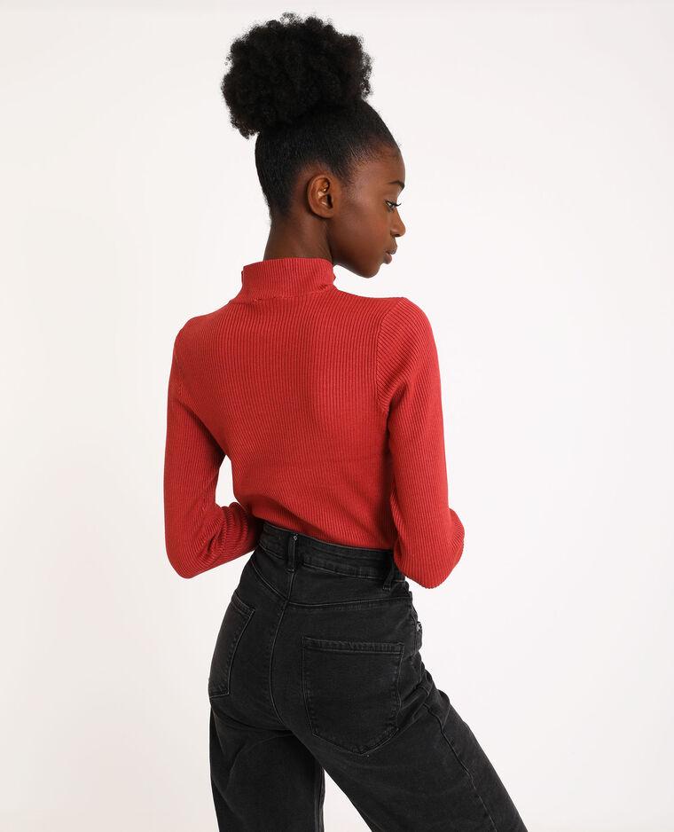 Pull zippé rouge