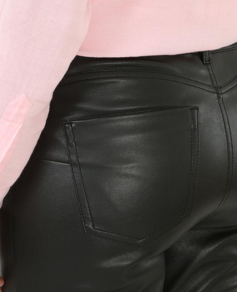 Tregging effet cuir noir