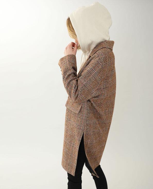 Manteau à carreaux beige - Pimkie