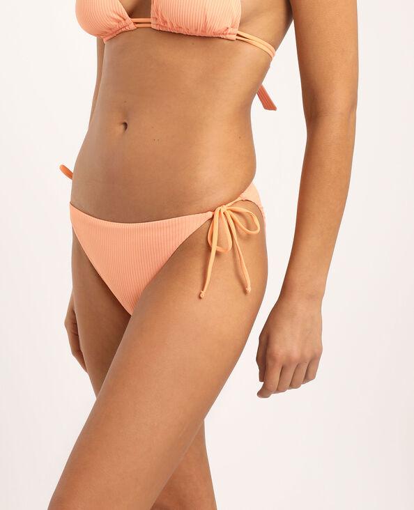 Bas de bikini échancré orange