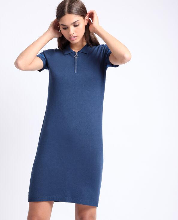 Robe col polo bleu marine
