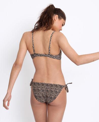 Bikini bandeau léopard marron