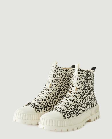 Baskets plateformes léopard blanc - Pimkie
