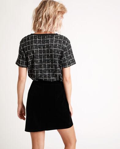 T-shirt tweed noir - Pimkie