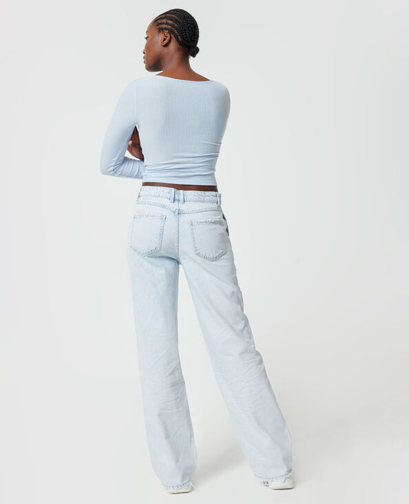 Jean baggy taille basse bleu clair - Pimkie