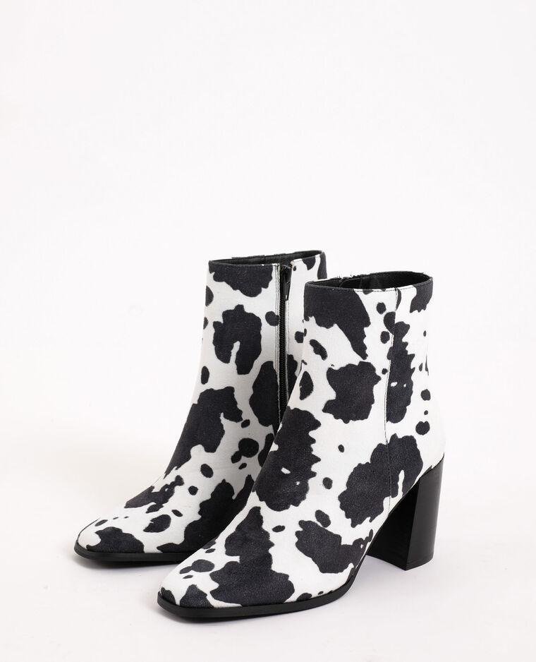 Boots imprimé animalier écru