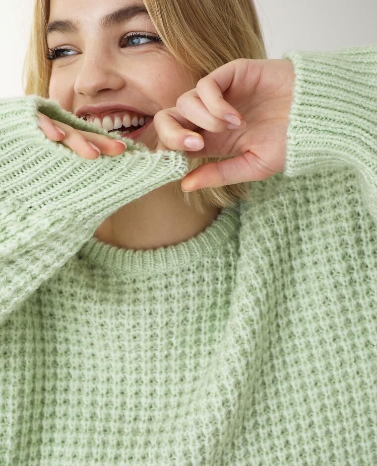 Pull grosse maille vert - Pimkie