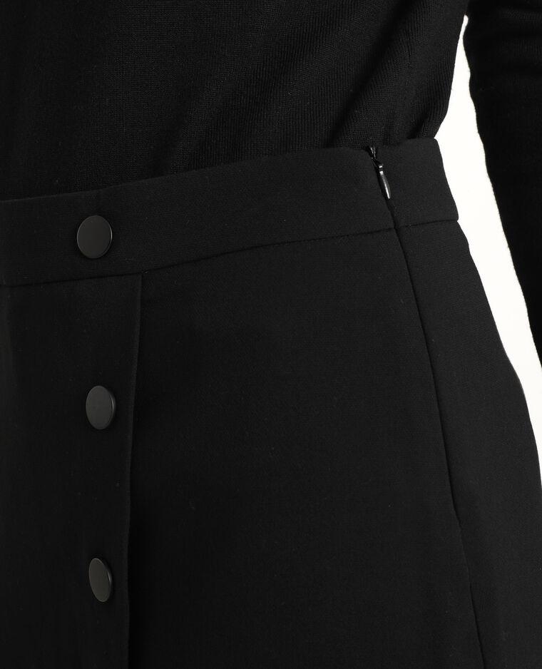 Jupe short taille haute noir