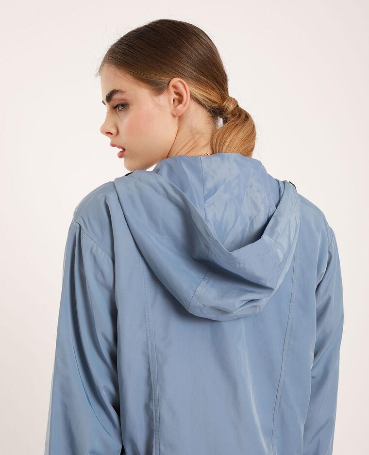 Veste à capuche bleu ciel