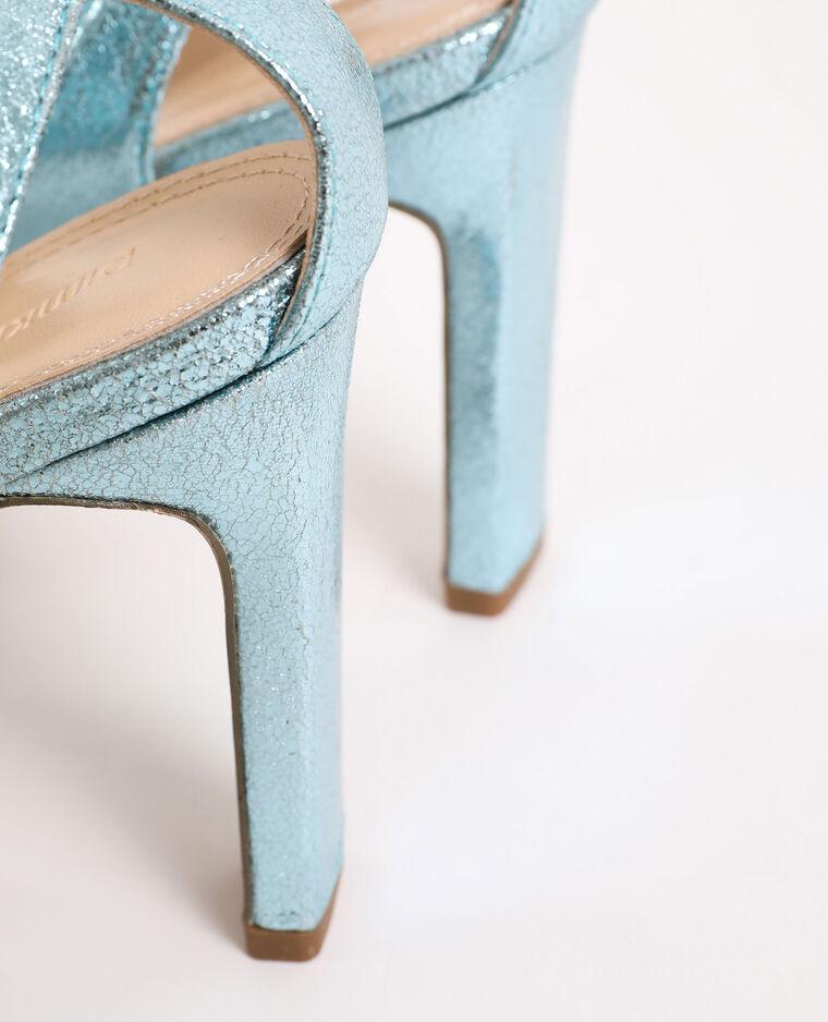 Sandales irisées bleu électrique