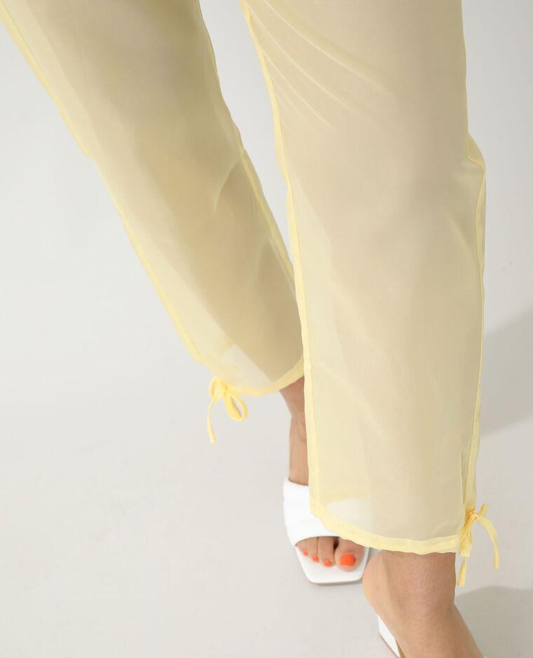 Pantalon transparent jaune - Pimkie