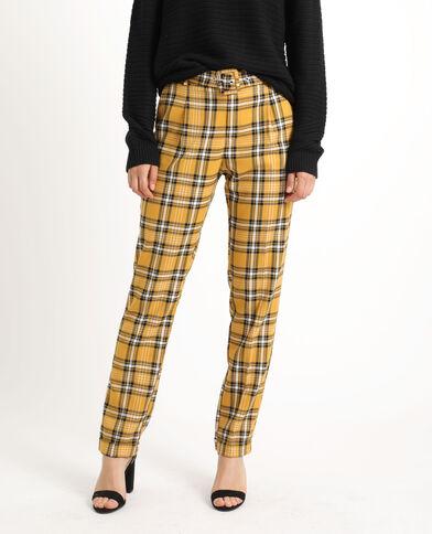 Pantalon à carreaux jaune
