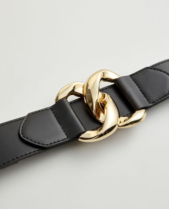 Ceinture Boucle dorée noir - Pimkie