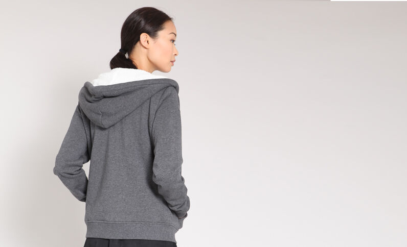 Sweat zippé gris
