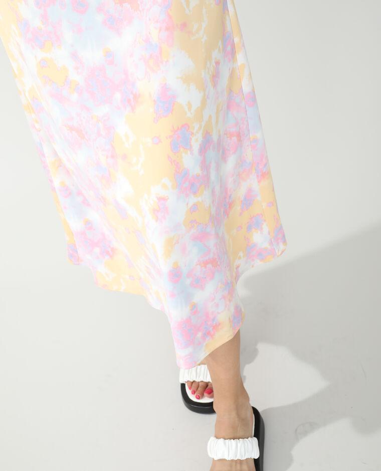 Robe longue boutonnée tie and dye blanc - Pimkie