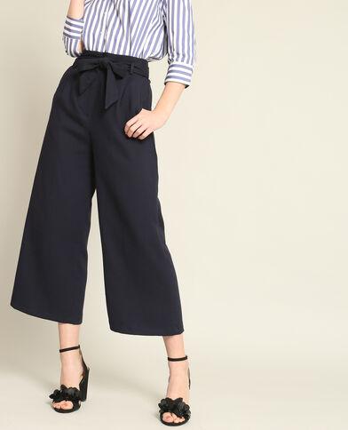 Pantalon fluide 7/8 bleu marine