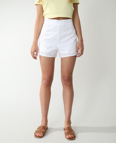 Short broderie anglaise blanc - Pimkie