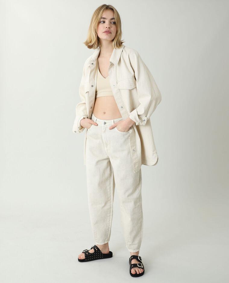 Jean slouchy high waist beige ficelle