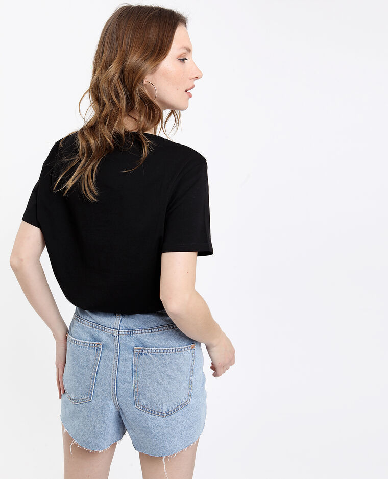 T-shirt Cuore noir