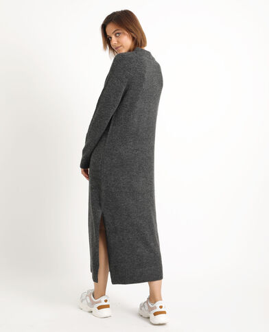 Robe pull longue gris