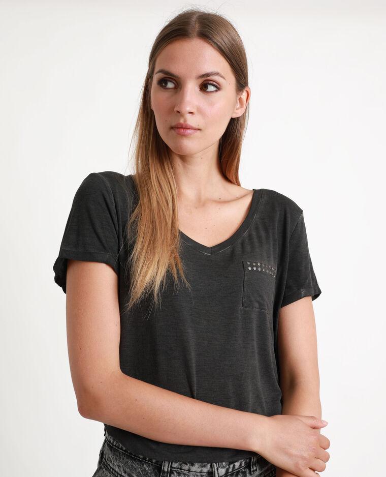 Tee-shirt clouté noir