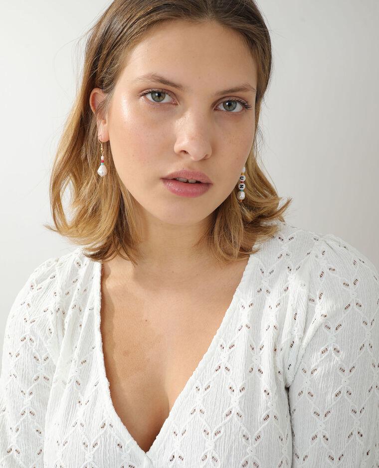 Top ajouré blanc cassé - Pimkie