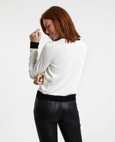Gilet bicolore blanc
