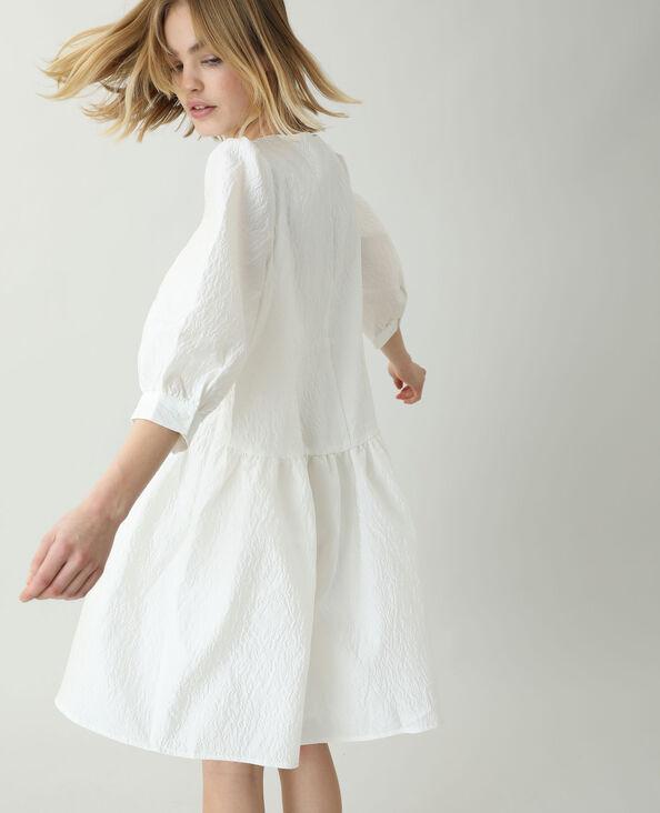 Robe fleurie blanc cassé
