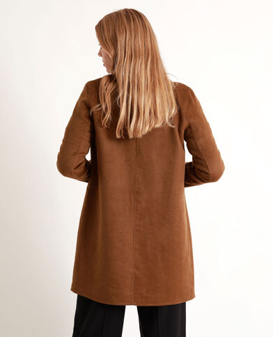 Manteau droit marron