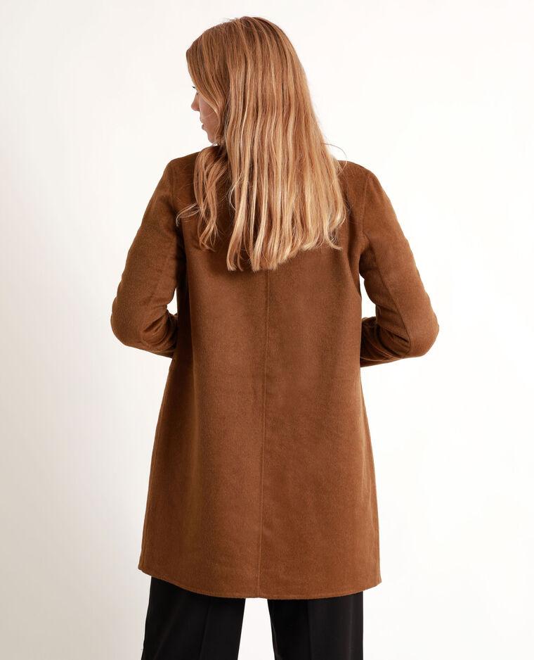 Manteau droit marron