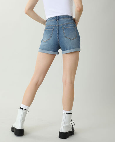 Short en jean high waist bleu denim - Pimkie
