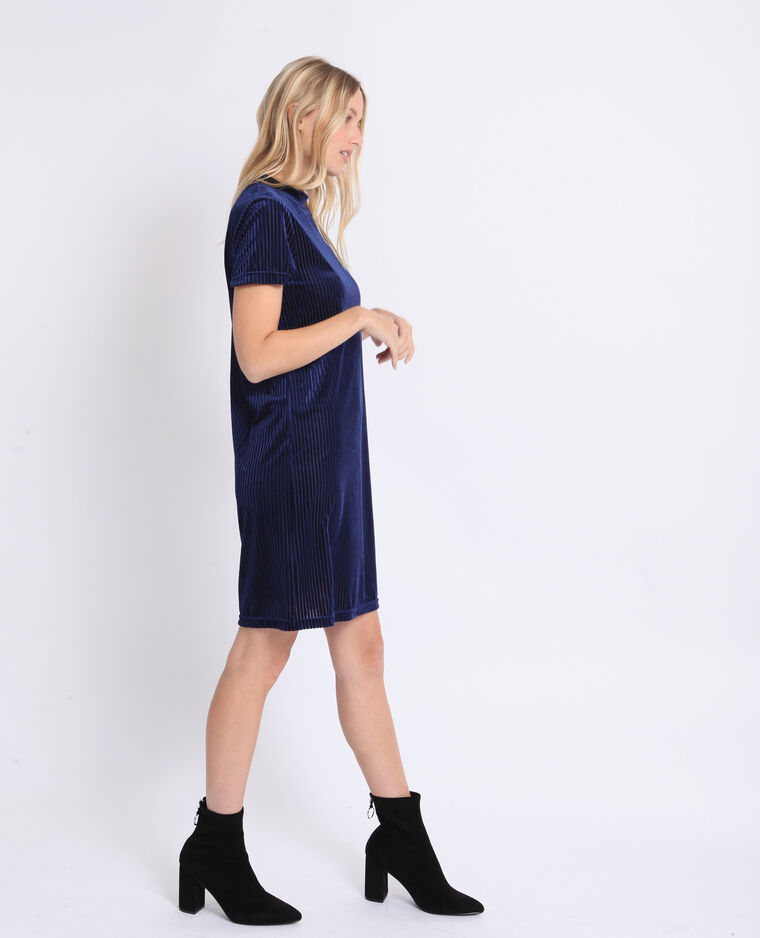 Robe à manches courtes bleu marine