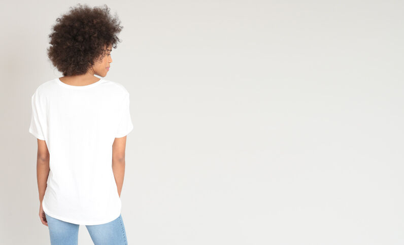 T-shirt à bijoux blanc cassé