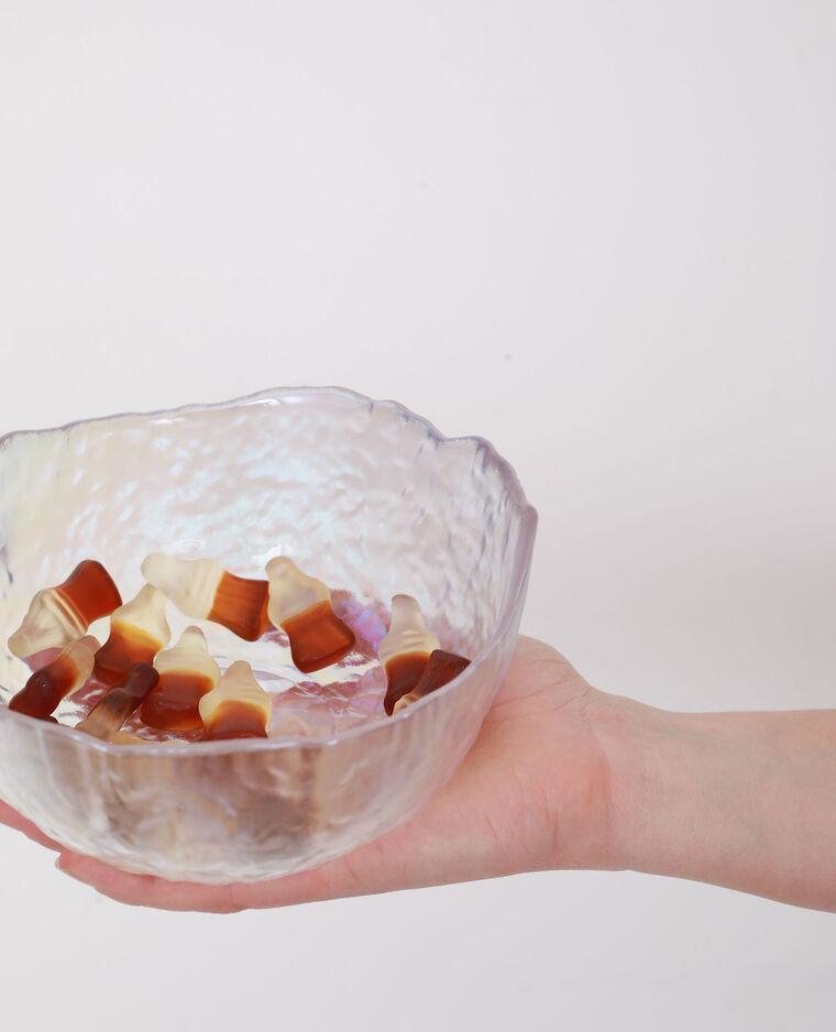 Saladier en verre irisé blanc - Pimkie