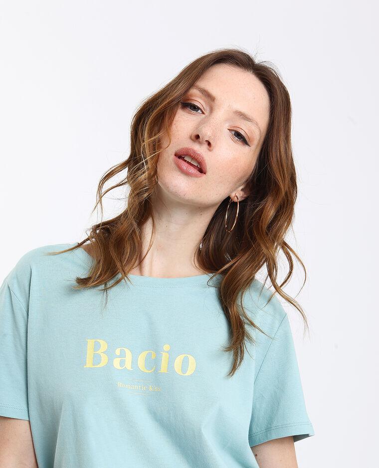 T-shirt Bacio vert d'eau