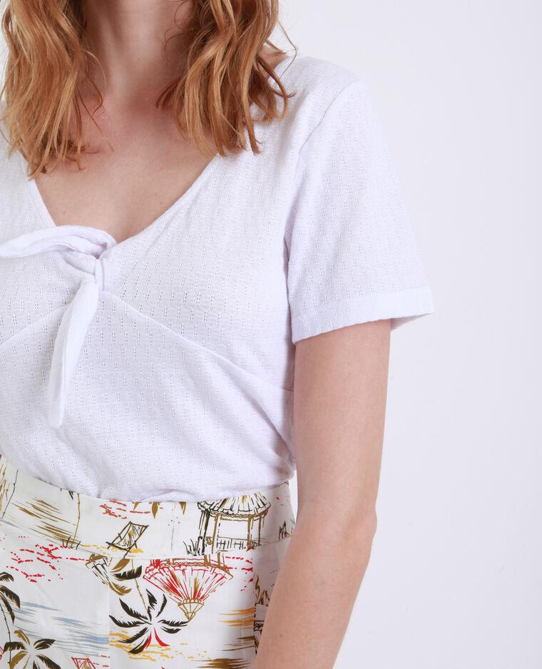 T-shirt à nœud blanc
