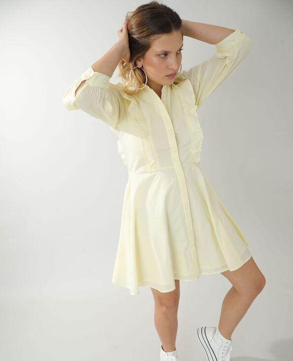 Robe trapèze jaune pâle - Pimkie