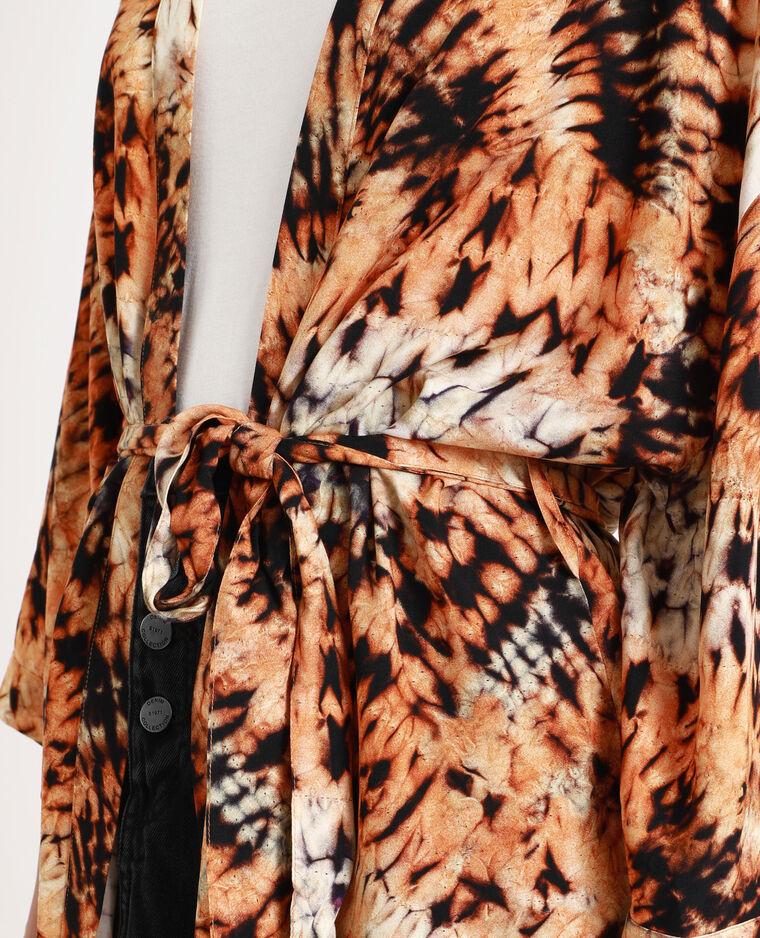 Kimono tie & dye marron