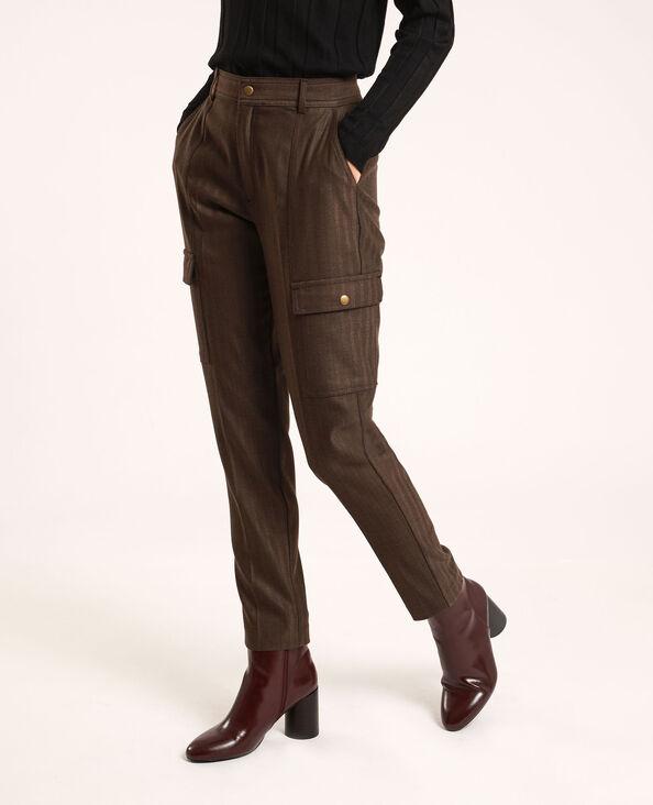 Pantalon à poches marron
