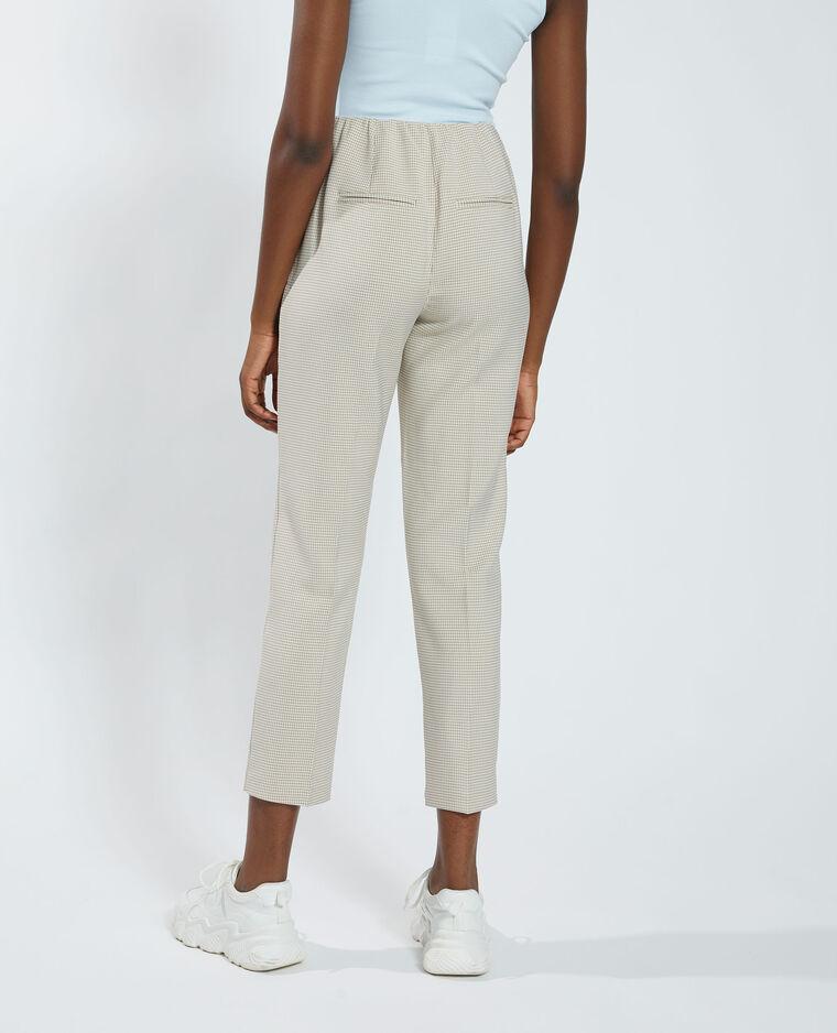 Pantalon motifs pied-de-poule beige - Pimkie