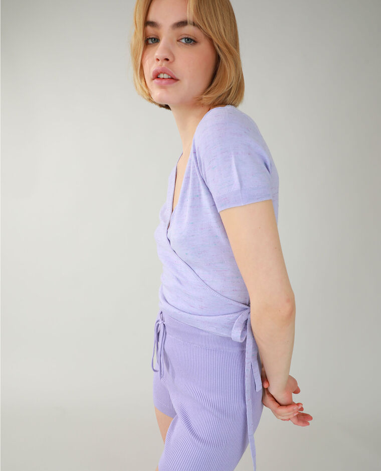 T-shirt cache-cœur rose fuchsia - Pimkie