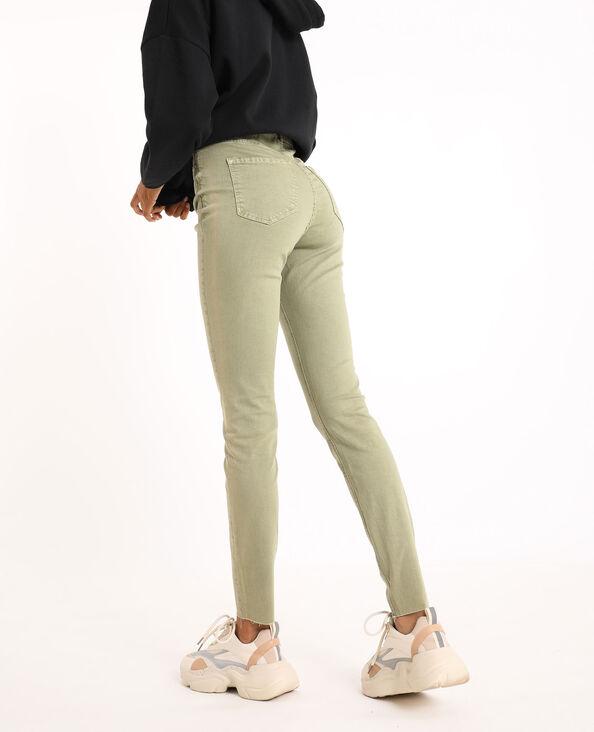 Jean skinny high waist kaki - Pimkie