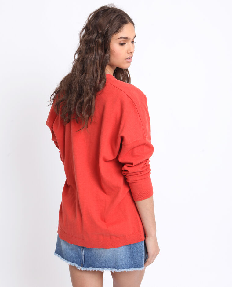 Gilet ample rouge