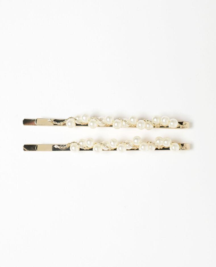 Lot de 2 pinces à perles doré