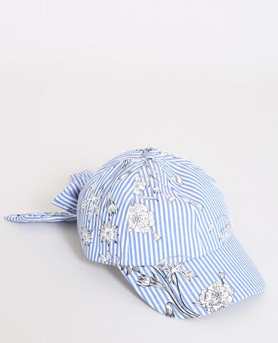 Casquette à rayures bleu