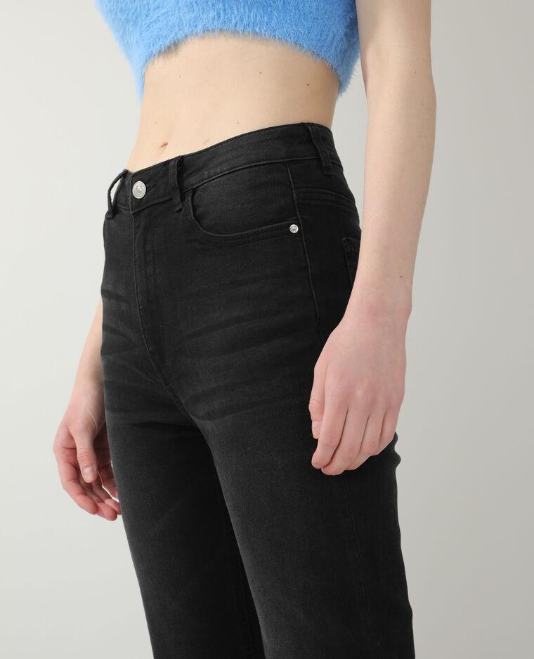 Jean flare high waist noir