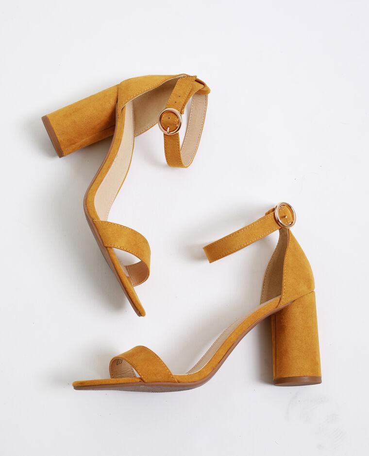 Sandales à talons ronds jaune - Pimkie