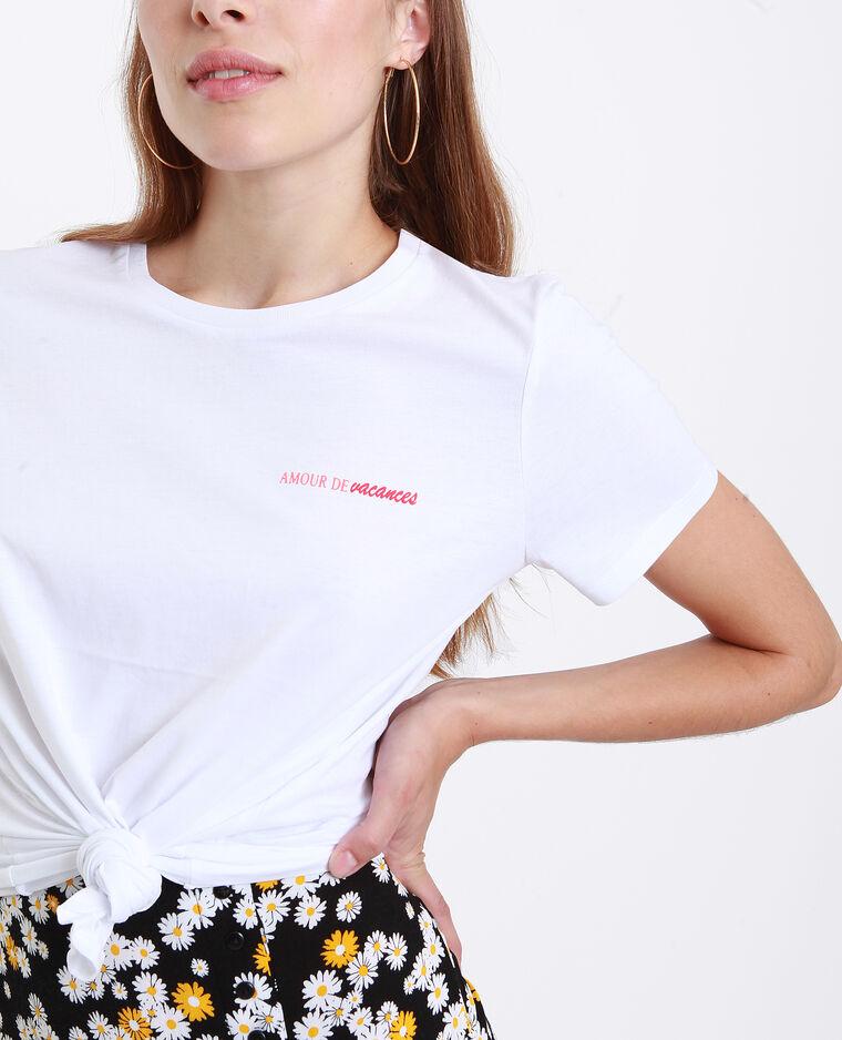 T-shirt amour de vacances blanc