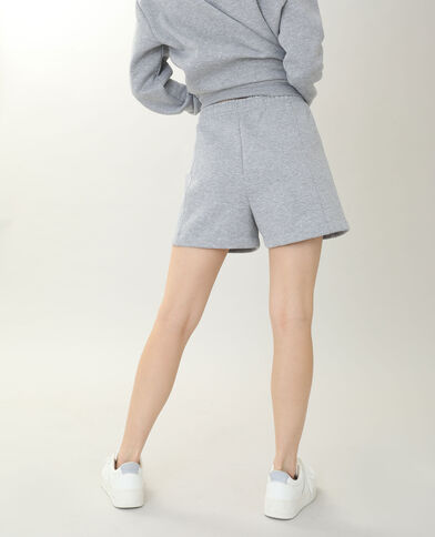 Short molleton gris