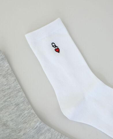 Lot de 2 paires de chaussettes gris - Pimkie
